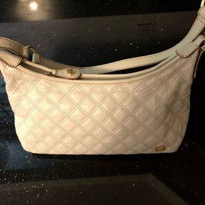 The Sak cream leather quilted hobo shoulder bag
